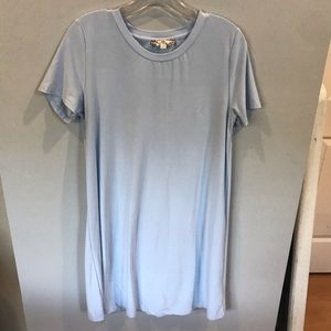 Soft blue T-shirt dress